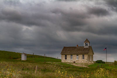 Photograph - Stone Schoolhouse by Guy Shultz