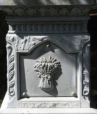 Stone Sheaf Memorial Art Print by M E Cieplinski