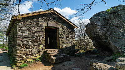 Photograph - Stone Shelter Blood Mountain Georgia 2 by Lawrence S Richardson Jr