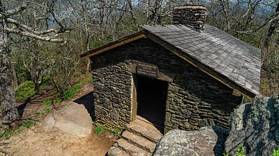 Photograph - Stone Shelter Blood Mountain Georgia by Lawrence S Richardson Jr