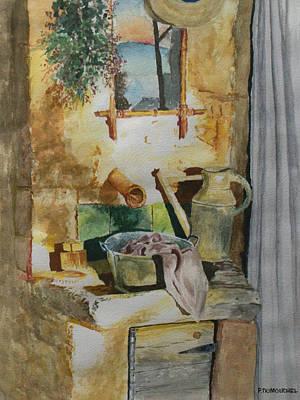 Ceramic Sinks Painting - Stone Sink by Patrick DuMouchel
