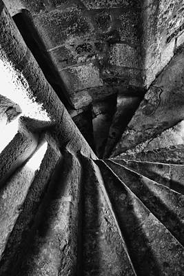 Photograph - Stone Spiral Stairs by Georgia Fowler