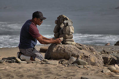 Photograph - Stone Stacking by Michael Gordon