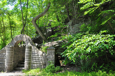 Phillies Digital Art - Stone Stairway Along The Wissahickon Creek by Bill Cannon