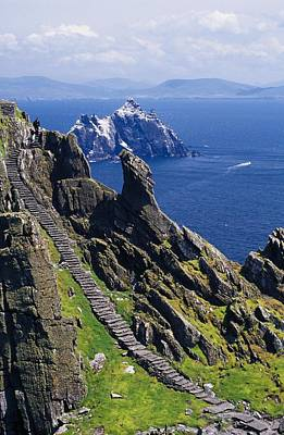 Photograph - Stone Stairway, Skellig Michael by Gareth McCormack