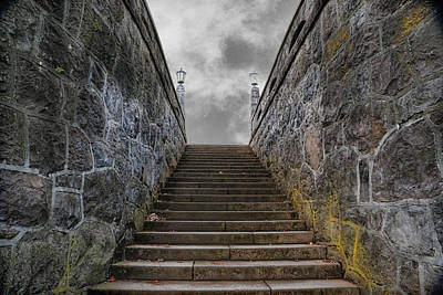 Photograph - Stone Stairway by Steve McKinzie