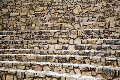 Photograph - Stone Step Abstract by Tikvah's Hope