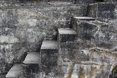 Mixed Media - Stone Steps by Carol Leigh