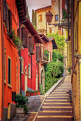 Photograph - Stone Steps In Verona Italy  by Carol Japp
