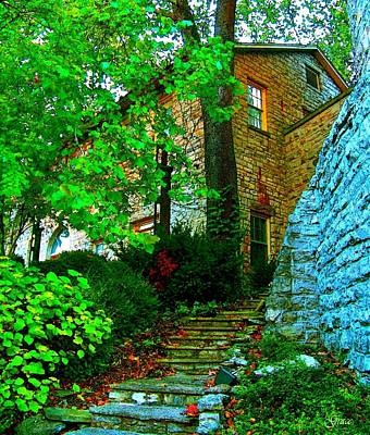 Stone Steps Art Print by Julie Grace