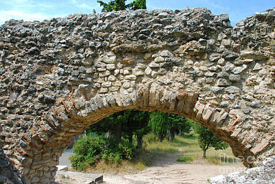 Fruits And Vegetables Still Life - Stone Structure of Barbegal Aqueduct and Mills by Just Eclectic