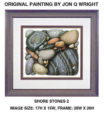 Lake Michigan Painting - Stone Study by JQ Licensing