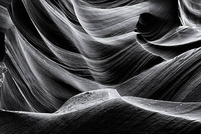 Photograph - Stone Swell Black And White by Nicholas Blackwell