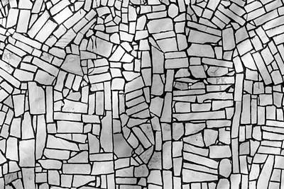 Photograph - Stone Tile Abstract Wall by John Williams