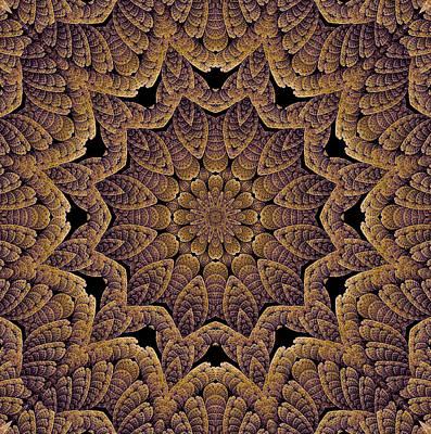 Digital Art - Stone Tile Amethyst Celtic Belfry by Doug Morgan