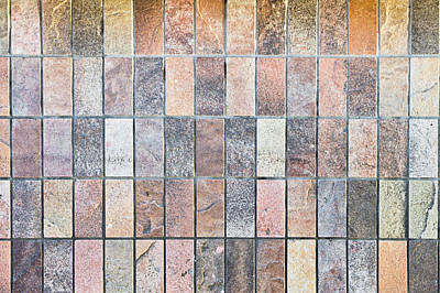 Mosaic Photograph - Stone Tiles by Tom Gowanlock