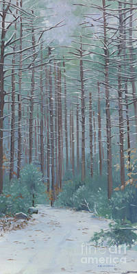 Painting - Stone Trail In Winter by Alecia Underhill