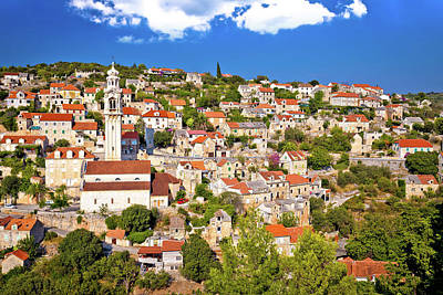 Photograph - Stone Village Lozisca On Brac Island View by Brch Photography