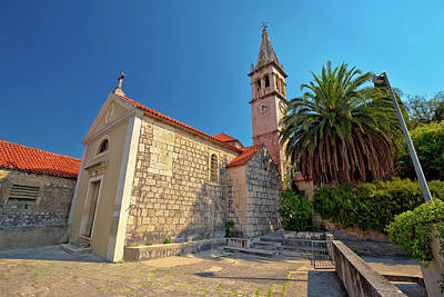 Photograph - Stone Village Of Splitska Church And Street View by Brch Photography