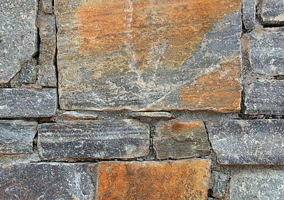 Photograph - Stone Wall 3 by John Cardamone