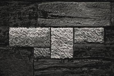 Stone Wall And Lichen Art Print by Robert Ullmann