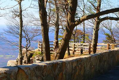 Photograph - Stone Wall At Pilot by Kathryn Meyer