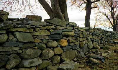 Photograph - Stone Wall, Colt State Park by Nancy De Flon