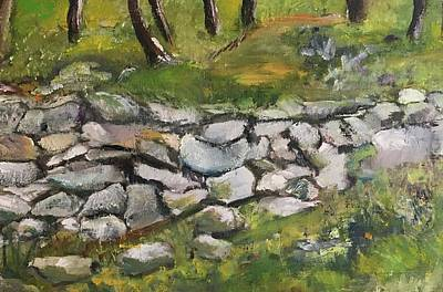 Painting - Stone Wall, Donegal Irealnd by Mary Feeney