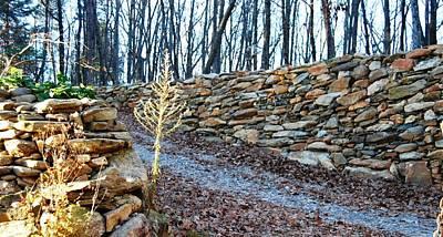 Photograph - Stone Wall Ga Mountain 1 by Angela Murray
