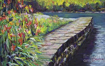 Pastel - Stone Wall by Joyce A Guariglia