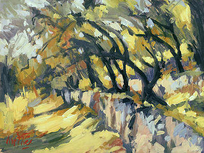 Painting - Stone Wall Olive Grove Terrace by Nop Briex