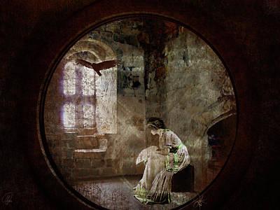 Art Print featuring the digital art Stone Walls A Prison Make by Margaret Hormann Bfa