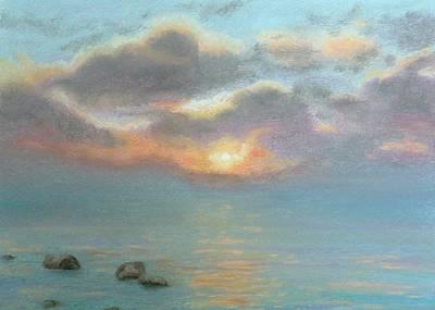 Stone Water Sunrise Print by Lynn ACourt