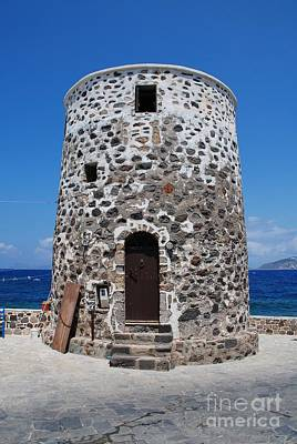 Photograph - Stone Windmill On Nisyros by David Fowler