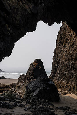 Photograph - Stone Window At Arch Cape by Robert Potts