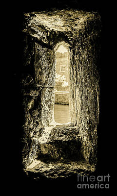 Photograph - Stone Window - Bishops Palace Wells England by Lexa Harpell