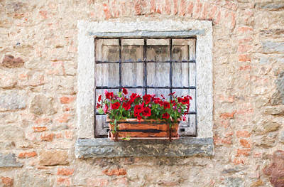Painting - Stone Window Of Cortona II by David Letts