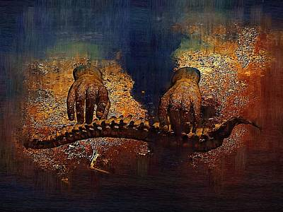 Chiropractic Digital Art - Stone2 by Joseph Ventura