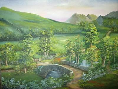 Stonebridge River Crossing Art Print