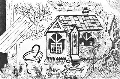 Drawing - Stonegate Cottage by Brigitte C Robinson