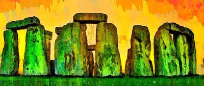 Bronze Painting - Stonehenge 100 - Da by Leonardo Digenio