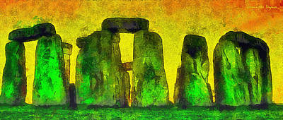 Seasons Painting - Stonehenge 200 - Da by Leonardo Digenio