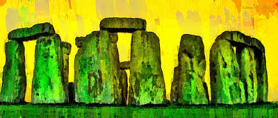 Travel Painting - Stonehenge 201 - Pa by Leonardo Digenio