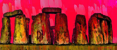 Hill Digital Art - Stonehenge 204 - Pa by Leonardo Digenio