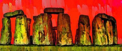 Burial Grounds Painting - Stonehenge 205 - Pa by Leonardo Digenio