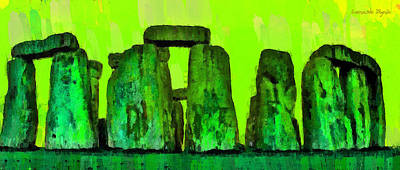 Dark Clouds Digital Art - Stonehenge 206 - Da by Leonardo Digenio