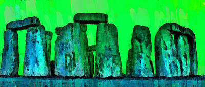 Bronze Painting - Stonehenge 207 - Pa by Leonardo Digenio