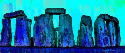 Hill Digital Art - Stonehenge 208 - Pa by Leonardo Digenio