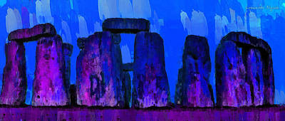 Prehistoric Painting - Stonehenge 209 - Pa by Leonardo Digenio