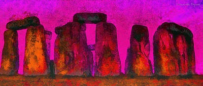 Cult Painting - Stonehenge 220 - Pa by Leonardo Digenio